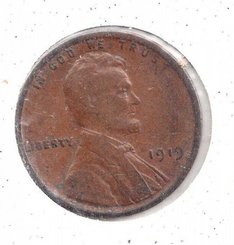 1919 p Lincoln Wheat Penny #3