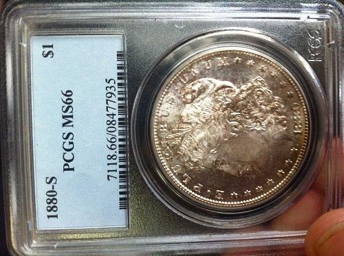 1880-S PCGS MS66 $1 Morgan Silver Dollar