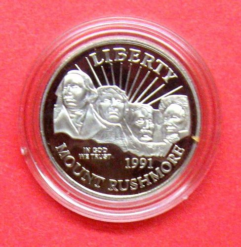 1991 MOUNT RUSHMORE COMMEMORATIVE HALF DOLLAR  -  B-22