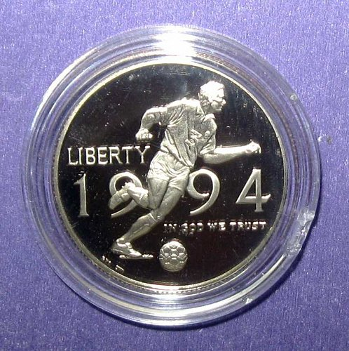 1994 WORLD CUP COMMEMORATIVE HALF DOLLAR PROOF  -  B-18