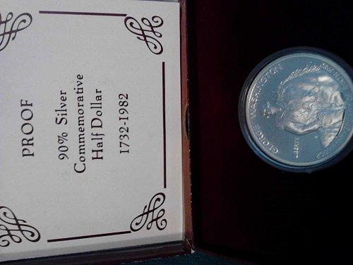 Proof 90% silver George Washington Commemorative Half Dollar