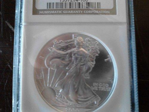 2000 Silver Eagle MS 69