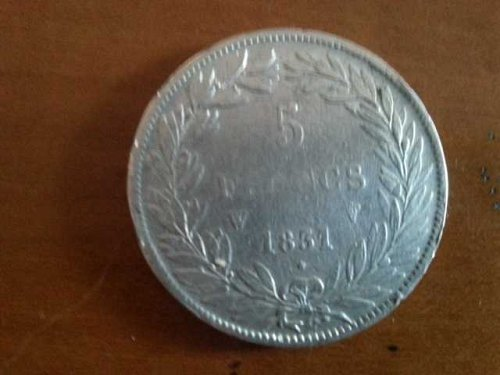 5 Francs Silver 1831 Louios Philippe / French Silver Coin