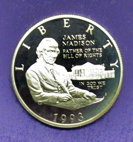 SILVER 1993 PROOF BILL OF RIGHTS COMMEMORATIVE HALF DOLLAR  - LOT B-29