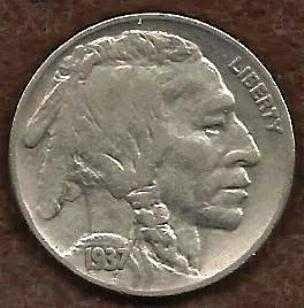 US 1937 P Buffalo Nickel