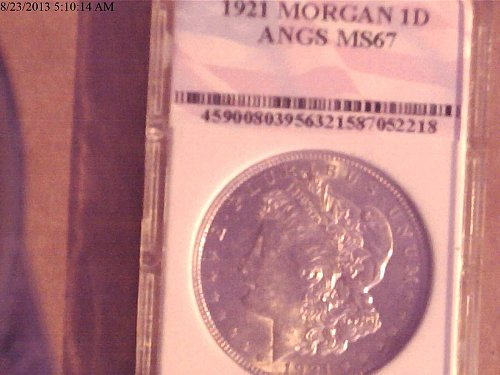 1921, Morgan Dollar MS67