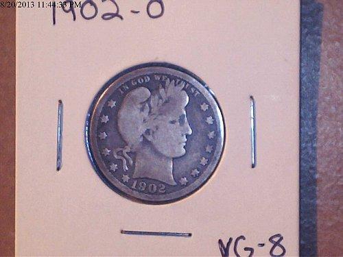 1902-O, Barber Quarter