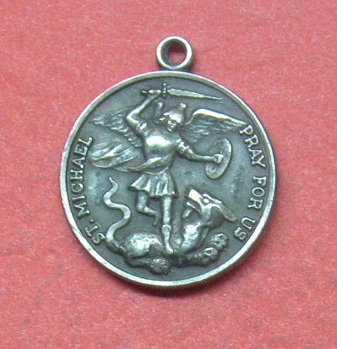 2 RELIGIOUS MEDALS - ST. MICHAEL & ST. CHRISTOPHER  -  LOT A-41