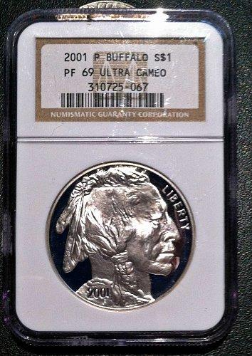 2001 Silver American Buffalo Dollar