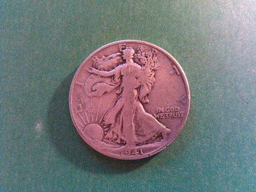 Beautiful American Silver Coinage fine Half Dollar