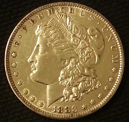 1883-O MORGAN SILVER DOLLAR AU GREAT NUMISMATIC COIN