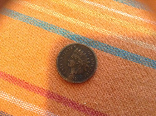 Indian penny coin