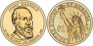 James Garfield $1 coin