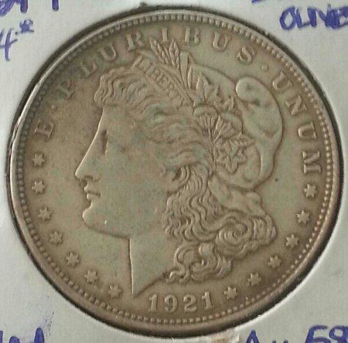1921 P Morgan Silver Dollar AU58 Mint Luster & Natural Toning VAM