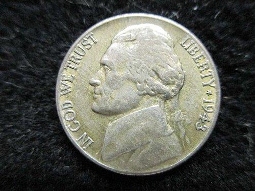War Time 1943 P Jefferson Nickel