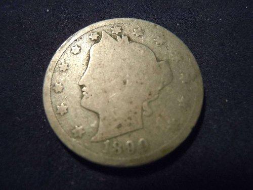 """1890 LIBERTY HEAD """"V"""" NICKEL (A115))"""