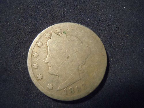 """1893 LIBERTY HEAD """"V"""" NICKEL (A117)"""