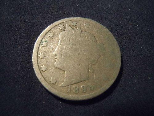 """1895 LIBERTY HEAD """"V"""" NICKEL (A118))"""