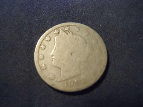 """1902 LIBERTY HEAD """"V"""" NICKEL (A121)"""