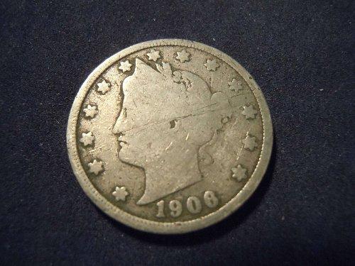 """1906 LIBERTY HEAD """"V"""" NICKEL (A124)"""