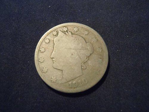 """1910 LIBERTY HEAD """"V"""" NICKEL (A127)"""
