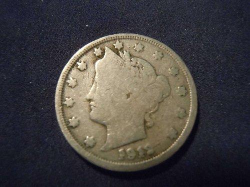 """1912 LIBERTY HEAD """"V"""" NICKEL (A129)"""
