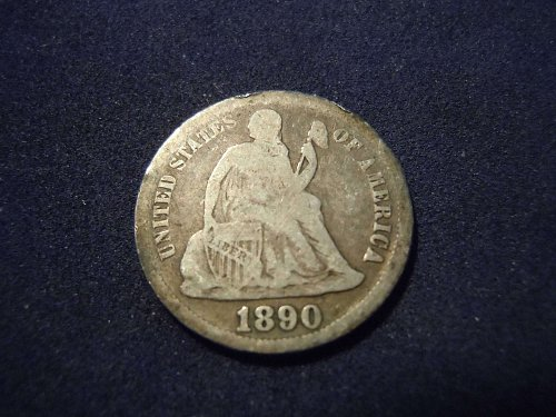 1890 LIBERTY SEATED DIME (A184)