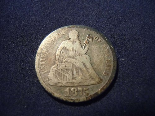 1875 LIBERTY SEATED DIME (A185)