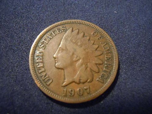 1907 INDIAN HEAD CENT (A165)