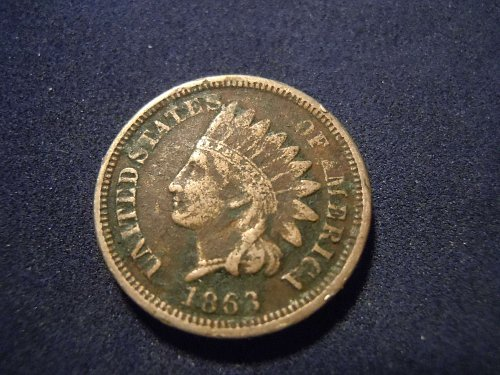 1863 INDIAN HEAD CENT (A177)