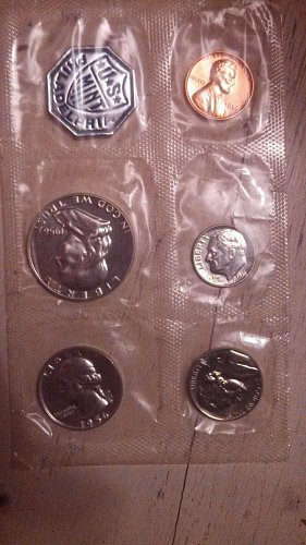 all 1956 Philadelphia us mint 5 collection of coins!