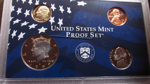 Lot of 2 Proof Sets including quarters: 1999, & 2000.