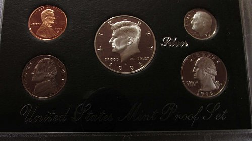 Lot of 4 Silver Proof Sets: 1994, 1995, 1996, & 1997