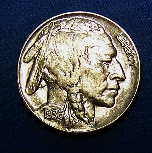 1936-P Buffalo Nickel - High Grade Coin For High Grade Set