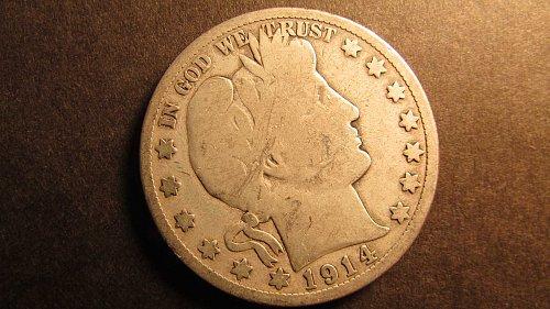 Barber Half Dollar 1914-S G-4