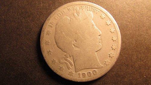 Barber Half Dollar 1900 AG-3