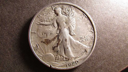 Walking Liberty Half Dollar 1920 AG-3