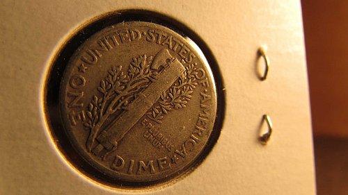 Lot of 3 Mercury Dimes & one Roosevelt Dime: 1919, 1943, 1944, & 2007-D