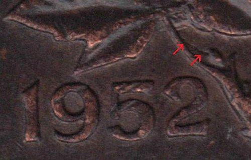 1952 George VI cent