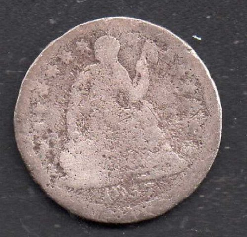 1857p Seated Liberty Half Dime #1