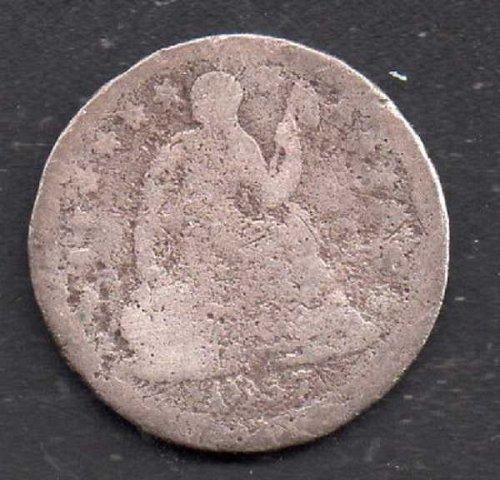 1857p Seated Liberty Half Dime #1