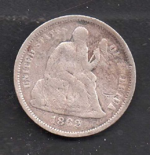 1862p Seated Liberty Half Dime #1