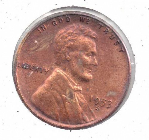 1953s Lincoln Wheat Penny #3