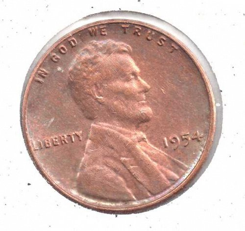 1954d Lincoln Wheat Penny #3