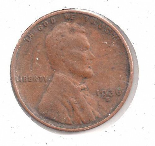 1936s Lincoln Wheat Penny #3