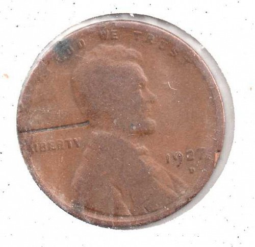 1927d Lincoln Wheat Penny - Space Filler