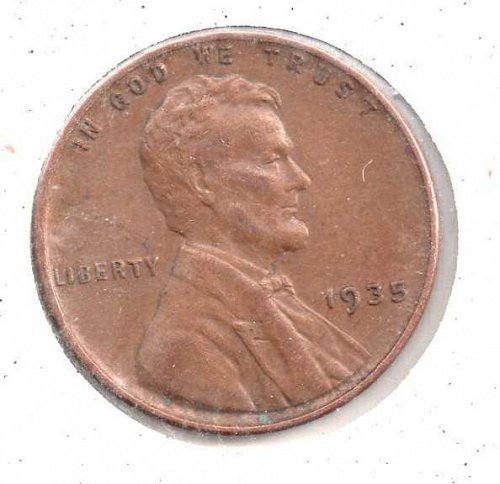 1935p Lincoln Wheat Penny #3