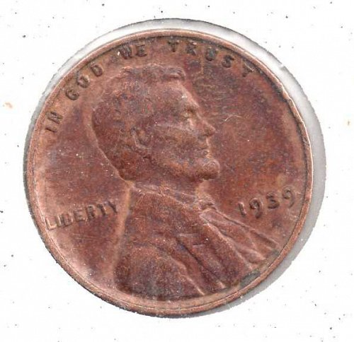 1939p Lincoln Wheat Penny #3