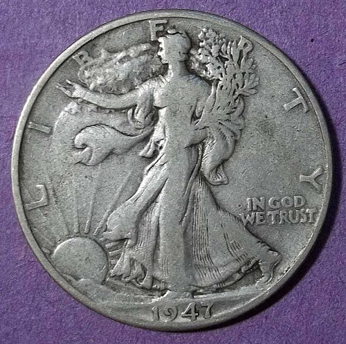 1947d Walking Liberty Half Dollar