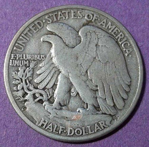 1947d Walking Liberty Half Dollar